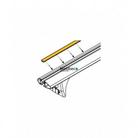 Goma superior perfil de aluminio Cruz...